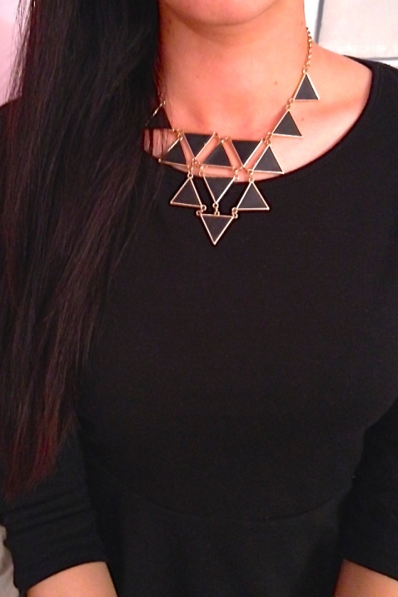 Statement necklace black